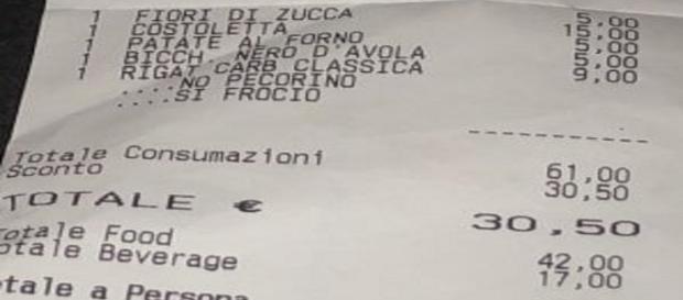 Roma, scritte omofobe sullo scontrino. Licenziato il cameriere, ma Forza Nuova invia striscione. - vocedistrada.it