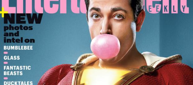Zachary Levi nei panni di Shazam in copertina su Entertainment Weekly!