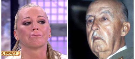 Sálvame: Belén Esteban pide un referéndum para exhumar los restos del dictador Franco