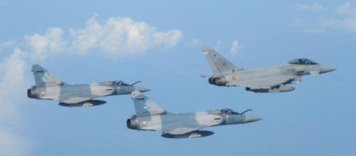 Eurofighter español con Mirage 2000 franceses los aviones protagonistas del incidente