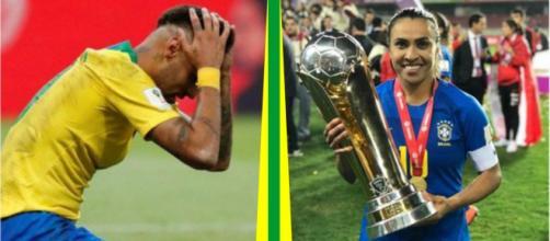 Marta comemora, enquanto Neymar é esquecido