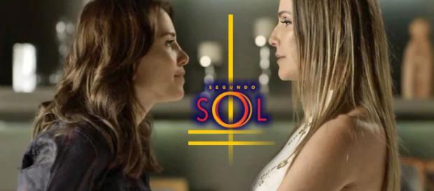 Karola ameaça matar Rosa com uma faca