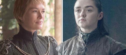 Cersei Lannister e Arya Stark de Game of Thrones