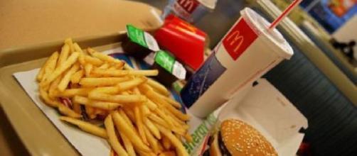 Nella foto un menu del McDonald.