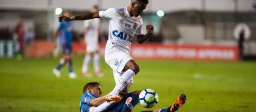 Rodrygo foi o destaque do Santos