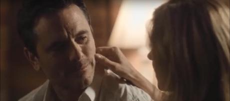 Deacon recalls a passionate honeymoon memory with Rayna in the 'Nashville' series finale. [Image Source: CMT - YouTube]