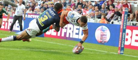 Jy Hitchcox is leaving Castleford for Bradford, but he goes with all of Castleford's well wishes. Image Source - loverugbyleague.com
