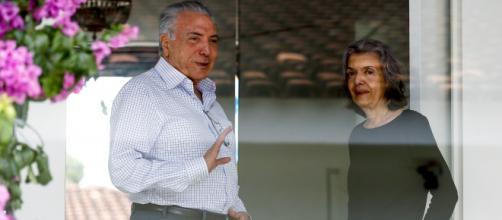Em destaque Michel Temer e a ministra Cármen Lúcia