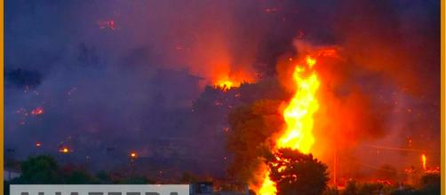 Photo of Athens fire. - [Al Jazeera English channel / YouTube screencap]