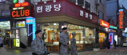 View of Songtan Entertainment District, Osan Air Base, South Korea [Image courtesy - Michael Battles, Wikimedia Commons]