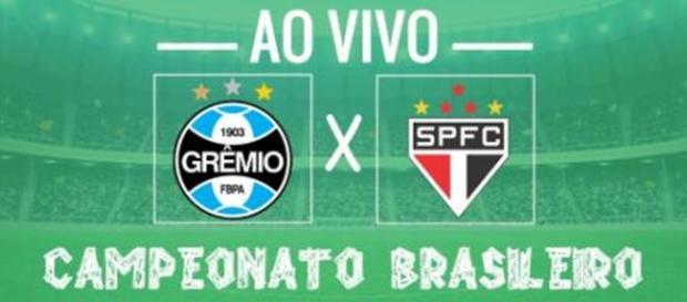 Confronto entre Grêmio e São Paulo com transmissão ao vivo na BN