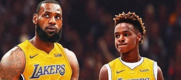 LeBron James talked about naming his son after him. [Image Source: lebronjames_ig - Instagram]