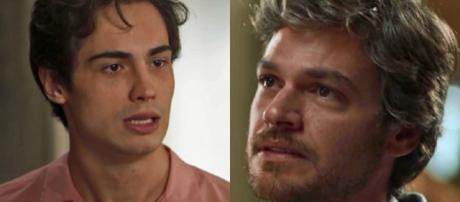 Valentim diz para Beto que Karola é extorquida por Remy em Segundo Sol (Foto: TV Globo)