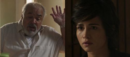 Agenor se irrita com a gravidez de Maura e deseja a morte do próprio neto em Segundo Sol (Foto: TV Globo)