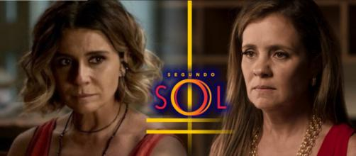 Karola descobre identidade secreta de Ariella e conta tudo para Laureta