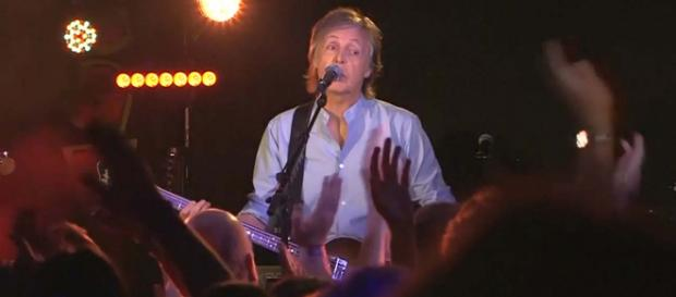 Paul McCartney wowed the crowd at The Cavern Club in Liverpool but warned them not to use their phones. [Image Straits Times/YouTube]