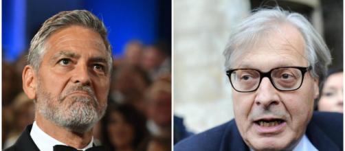 George Clooney risponde all'attacco di Vittorio Sgarbi.