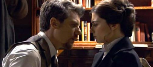 una vita: nuova lite tra Teresa e Mauro.
