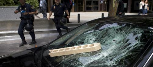 Taxistas de varias partes de España se unen a la protesta en contra de las VTC