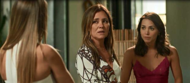 Rosa aceita dar golpe da barriga em Valentim. (Foto: Divulgação TV Globo)