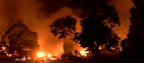 Little boy killed in fire with his sister and great-grandmother called his grandpa for help but died in Redding fire. Image credit - CNN YouTube