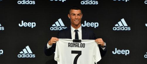 Cristiano Ronaldo nel giorno della sua presentazione.