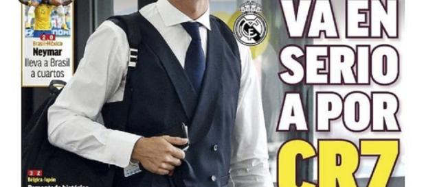 La prima pagina di Marca che conferma la trattativa tra Ronaldo e Juventus