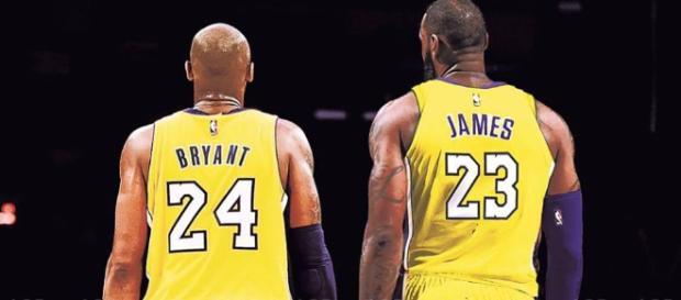 LeBron James and Kobe Bryant [Image by lakersalldayeveryday / Instagram]