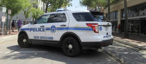 A police vehicle in New Orleans CBD. [Image courtesy - Infrogmation of New Orleans, Wikimedia Commons]