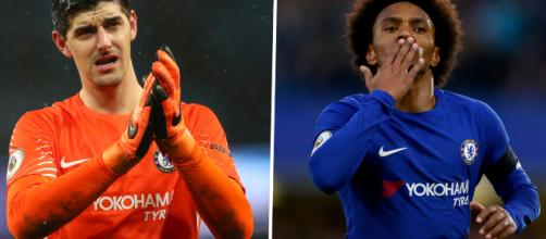 Courtois e Willian podem se transferir para o Real Madrid