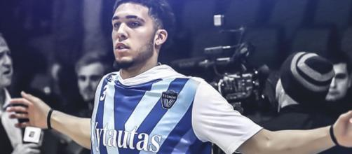 LiAngelo Ball's path to the combine was playing overseas in Lithuania. [image source: ClutchPoints - YouTube]