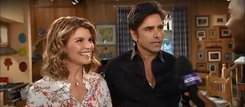 Lori Loughlin and John Stamos share a deep bond of friendship after three decades of working together. [Image source:Access Hollywood-YouTube]