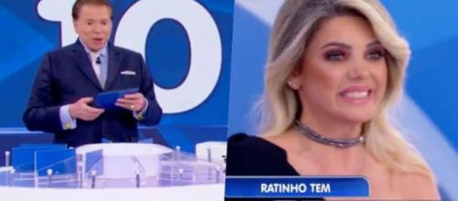 Mari Alexandre esteve com Silvio Santos e evitou falar sobre o ex-marido Fábio Junior (Foto reprodução)