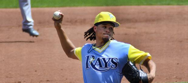 Archer is no longer part of the Rays as he was traded to the Pirates. [image source: Johnmaxmena2- Wikimedia Commons]