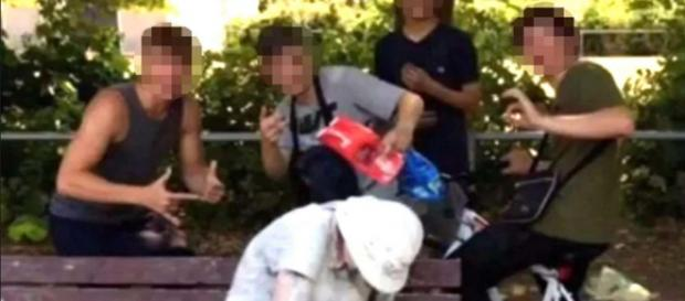 Four teens were arrested after covering a disabled woman with flour and eggs. [Image @securityctrl/Twitter]