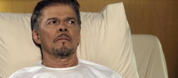 O ator recebeu alta no último domingo (Foto - Rede Globo)