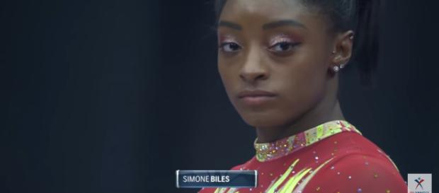 Simone Biles competes at the 2018 US Classic. - [USAGymnastics / YouTube screencap]