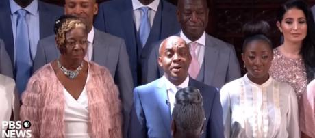 The Kingdom Choir is taking its combined voice even beyond the royal wedding with a Sony Records deal. [image source: PBS News Hour/YouTube]