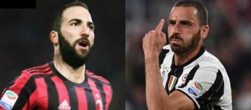 Calciomercato, Higuain al Milan e scambio Caldara-Bonucci - premiumsporthd.it