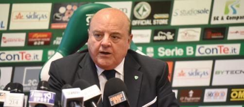 Il presidente dell'Avellino Walter Taccone