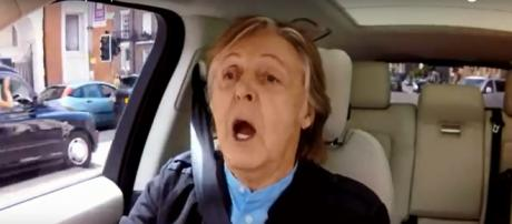 Paul McCartney rode along with James Corden, but he is in the driver's seat on new album. - [The Late Late Show / YouTube screencap]
