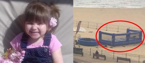 Ava-May Littleboy faleceu após explosão de brinquedo inflável (identificado à direita)