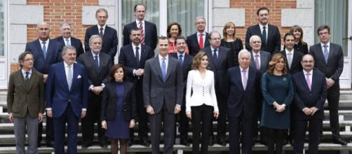 Felipe VI y la junta de Abogados de Madrid se reúnen en la Zarzuela
