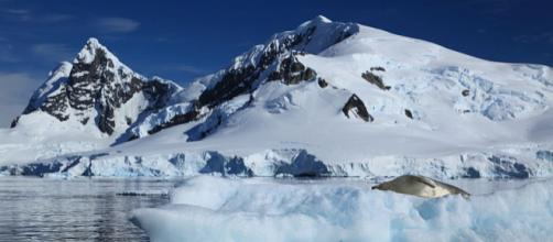 Iceberg in Paradise Harbour, Antarctica (Image courtesy – Liam Quinn, Wikimedia Commons)