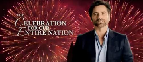John Stamos had emotional words to start PBS' 'A Capitol Fourth' for 2018. [Image source: Capital Concerts/YouTube]