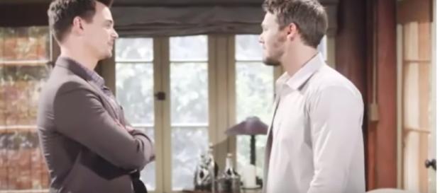 Liam seeks Wyatt's council egarding Hope's pregnancy. - [Elias Norenna / YouTube screencap]