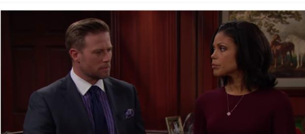 Maya and Rick are on the back burner on 'The Bold and the Beautiful.' [Image credit: CBS/YouTube]