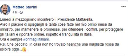 Salvini contro le magliette rosse, quasi 18.000 mi piace in 4 ore