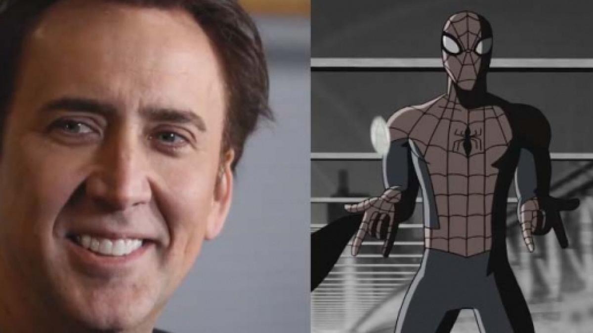 nicolas cage to voice 'noir' spidey in 'into the spider-verse'