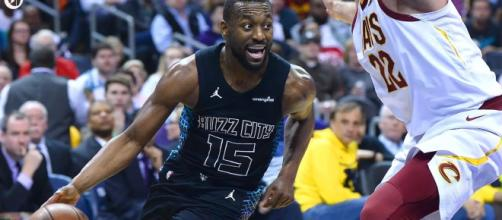 Kemba Walker has been mentioned in several NBA trade rumors. - [Charlotte Observer / YouTube screencap]